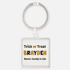 Brayden Trick or Treat Square Keychain