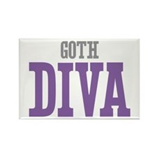 Goth DIVA Rectangle Magnet (100 pack)