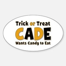 Cade Trick or Treat Oval Decal