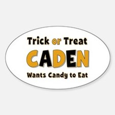 Caden Trick or Treat Oval Decal
