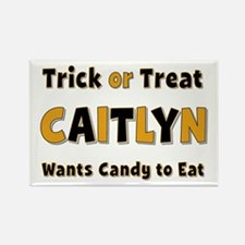 Caitlyn Trick or Treat Rectangle Magnet