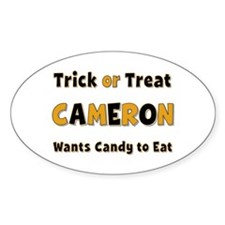 Cameron Trick or Treat Oval Decal