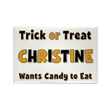 Christine Trick or Treat Rectangle Magnet