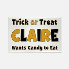 Claire Trick or Treat Rectangle Magnet