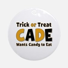 Cade Trick or Treat Round Ornament