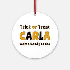Carla Trick or Treat Round Ornament