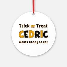 Cedric Trick or Treat Round Ornament