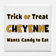 Cheyenne Trick or Treat Tile Coaster