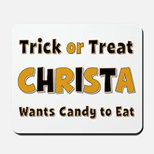 Christa Trick or Treat Mousepad