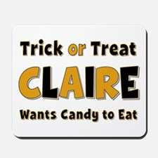 Claire Trick or Treat Mousepad