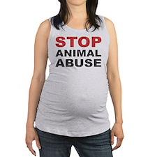 Stop Animal Abuse Maternity Tank Top