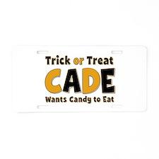 Cade Trick or Treat Aluminum License Plate