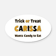 Carissa Trick or Treat Oval Car Magnet