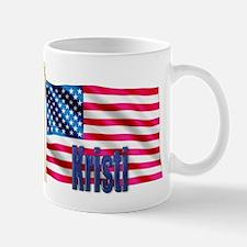 Kristi Personalized American Flag Gift Mug