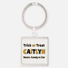 Caitlyn Trick or Treat Square Keychain