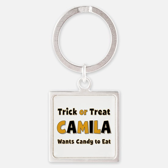 Camila Trick or Treat Square Keychain