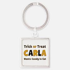 Carla Trick or Treat Square Keychain