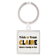 Claire Trick or Treat Square Keychain