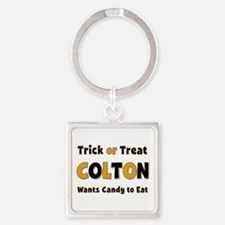 Colton Trick or Treat Square Keychain