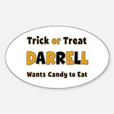 Darrell Trick or Treat Oval Decal