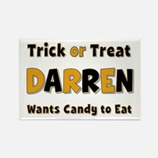Darren Trick or Treat Rectangle Magnet