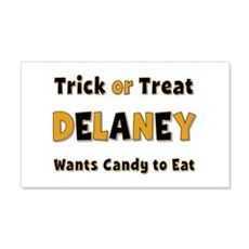 Delaney Trick or Treat 20x12 Wall Peel