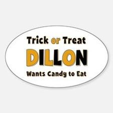 Dillon Trick or Treat Oval Decal