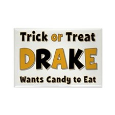 Drake Trick or Treat Rectangle Magnet