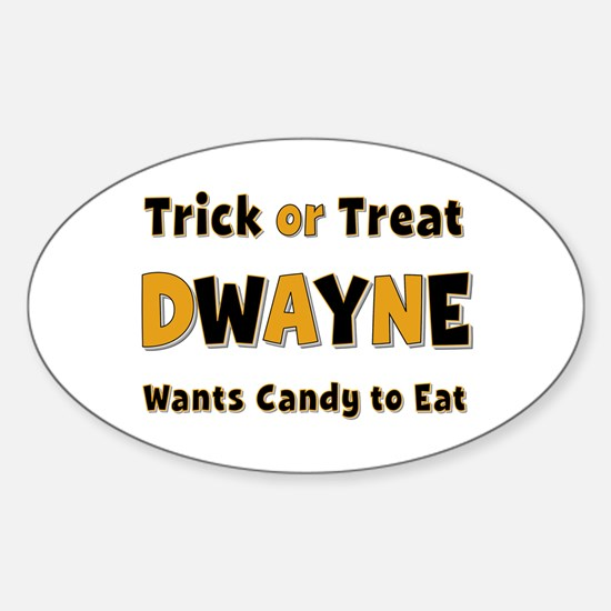 Dwayne Trick or Treat Oval Decal