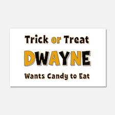 Dwayne Trick or Treat 20x12 Wall Peel