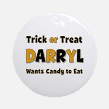 Darryl Trick or Treat Round Ornament
