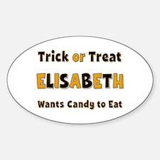 Elisabeth Trick or Treat Oval Decal