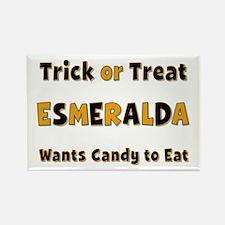 Esmeralda Trick or Treat Rectangle Magnet