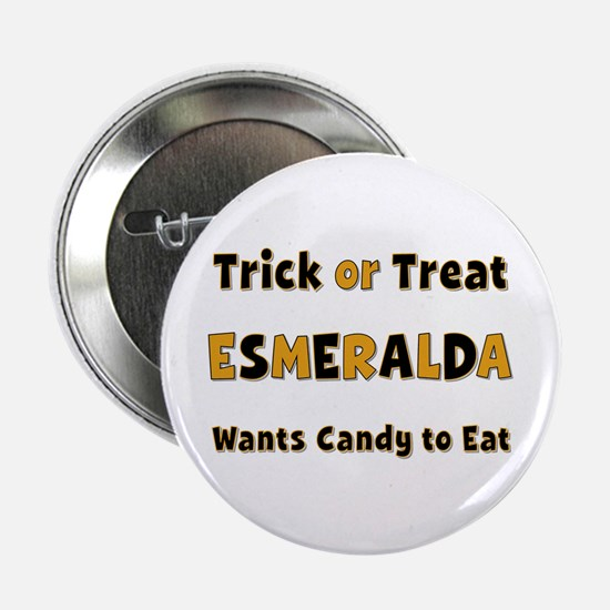Esmeralda Trick or Treat Button
