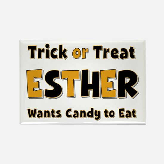 Esther Trick or Treat Rectangle Magnet