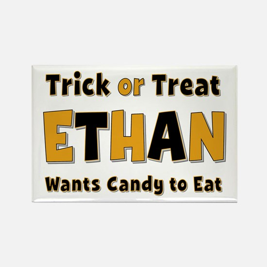 Ethan Trick or Treat Rectangle Magnet