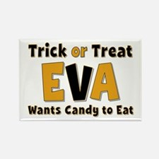 Eva Trick or Treat Rectangle Magnet