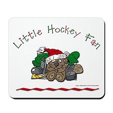 Little Christmas Hockey Fan Mousepad
