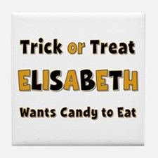 Elisabeth Trick or Treat Tile Coaster