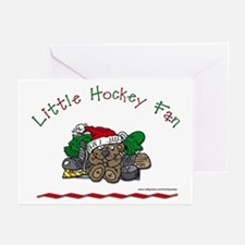Little Christmas Hockey Fan Greeting Cards (Packag