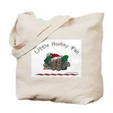 Little Christmas Hockey Fan Tote Bag