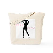 Sexy Pinup Girl Meow Tote Bag