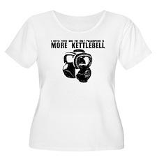 MORE KETTLEBELL BLACK Plus Size T-Shirt