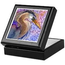 Beautiful Bird Wildlife Great Blue Heron Tile Box