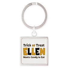 Ellen Trick or Treat Square Keychain