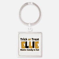 Ellie Trick or Treat Square Keychain