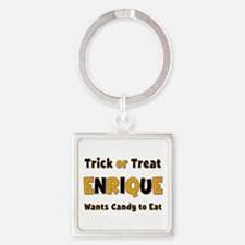 Enrique Trick or Treat Square Keychain