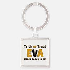 Eva Trick or Treat Square Keychain