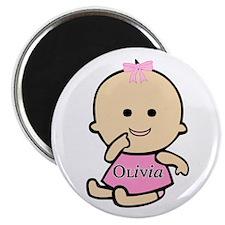 """Baby Olivia"" Magnet"