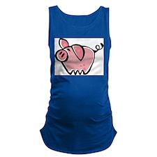 Cute Cartoon Pig Maternity Tank Top